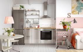 modern white kitchens ikea. Modern Stainless Kitchen With GREVSTA Fronts And Steel Fridge/freezer White Kitchens Ikea 7