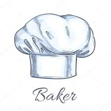 Croquis De Chapeau Toque Ou Chef Boulanger Blanc Image