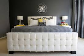 luxurious master bedroom in gray with yellow accents design michelle hinckley