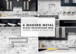 modern white glass metal backsplash espresso