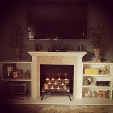 Painted Fireplace MakeoverHow To Build A Faux Fireplace
