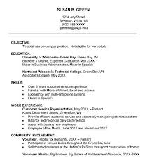 Resume For College Freshmen