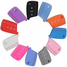 <b>3 Buttons Silicone Car</b> Key Cover Case For VW Volkswagen New ...