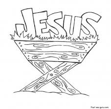 Print Out Jesus In The Manger Coloring Pages Printable Coloring