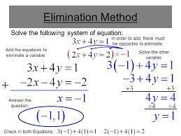 5 elimination