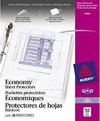 sheet protector book amazon com avery 77004 top load sheet protector heavyweight 8 1