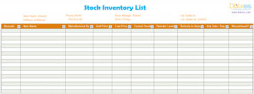 template list inventory list template stock dotxes