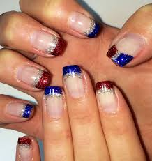 Gel Nail Designs For 4th Of July 4th Of July Nails Glitter Gel Nail Art Bymargarita
