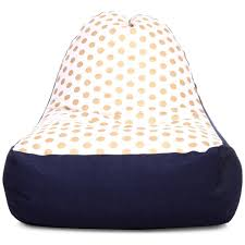 style homez urban design denim canvas polka dots printed chair bean bag l size cover only bean bags cj
