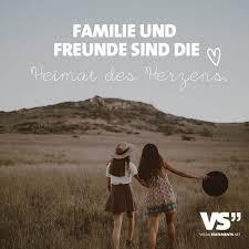 Familie Und Freunde Sind Die Heimat Des Herzens на немецком