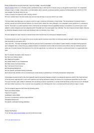 Free Resumer Builder completely free resume templates domosenstk 82