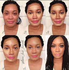 highlight and contour for dark skin 675 best make up images on