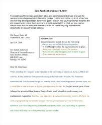 Generic Job Cover Letter Generic Job Application Letter Cv Cover