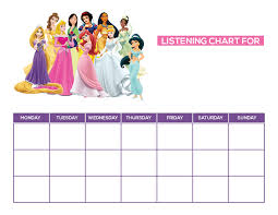 Disney Princess Behavior Chart Discipline Charts For Kids Adults Blendra