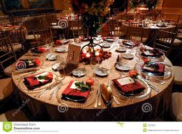 Luxurious Table Setting At A Wedding Reception Royalty Free Stock
