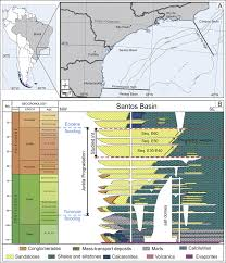 Hubbard Scientific Physiographic Chart Of The Seafloor Location Map Of The Santos Basin In Offshore Brazil A And