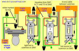 4 way switch wiring diagrams do it yourself help com common wiring diagrams for cargo trailers 4 way switch wiring diagram, light first