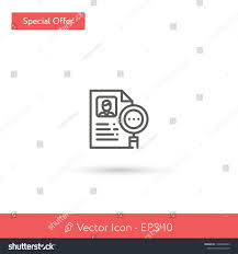 Modern Resume Icon New Resume Vector Icon Modern Simple Stock Vector Royalty Free