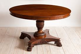 round center pedestal table in mahogany northern europe c 1850