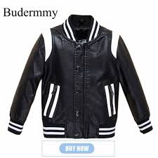 Design Jackets For Boys Us 29 9 Budermmy 2018 Spring Fashion Leather Boys Jacket Brand Design Infant Coats Girls Outerwear Kids Clothes Children Clothing In Jackets Coats