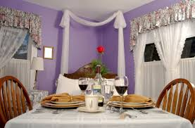 romantic bedroom for honeymoon. Elegant Romantic Tulip Violet Room With Window Drapery Silver Accent Valance Bedroom Interior Decoration For Honeymoon