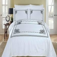 hotel black white medallion embroidered egyptian cotton duvet cover set duvet cover set queen size duvet