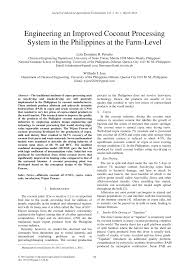 PDF) Engineering an Improved Coconut Processing System in the ...