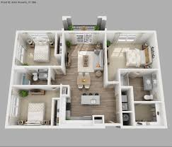 Small House Plans 3 Bedrooms 3d Images Including Stunning Modern With  Basement 2018
