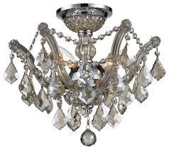 3 light 16 chrome finish crystal flush mount ceiling chandelier golden teak