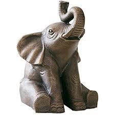 amazon com happiness good luck elephant statue home garden decor