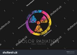 Radiation Design Radiation Logo Color Radiation Design Creative Stock Vector