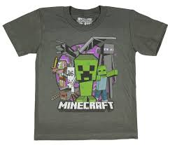 Amazon.com: Minecraft Evil Mob Boys Youth T-shirt (Medium, 8 ...
