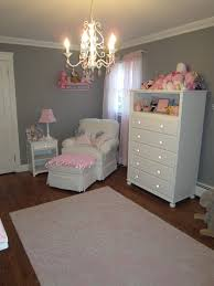 4 10 pink and gray classic nursery glider view