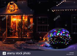 Outdoor Holiday Lights Outdoor Holiday Christmas Lights At Night Greater Sudbury