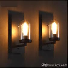 2019 svitz hallway retro wall sconce glass lamp cover black industrial wrought iron wall lamp corridor bar cafe loft professional lighting from royallamps