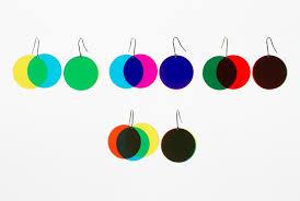 Venn Diagram Color Bunkai Color Venn Diagram Earrings By Daisuke Motogi Spoon Tamago