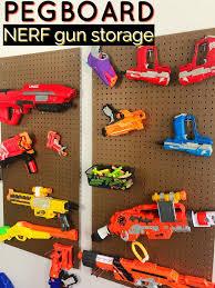 Pvc pipe cutter or miter box. Diy Pegboard Nerf Gun Storage Moments With Mandi