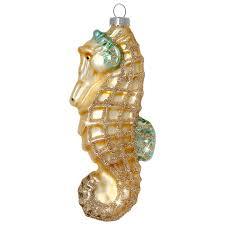 Sikora Christbaumschmuck Glas Ornament Seepferdchen H