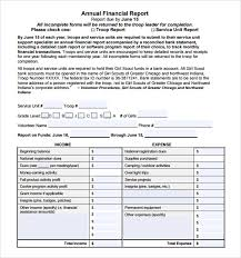 Editable Annual Financial Report Template Sample V M D Com