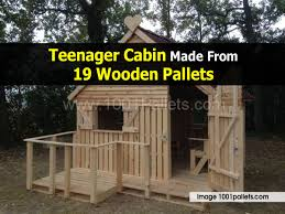 House Made From Pallets Teenager Cabin 1001pallets Comjpg