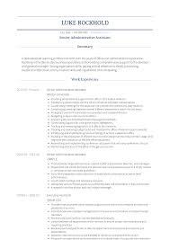 Cv Examples Administration Administrative Assistant Resume Samples Templates Visualcv