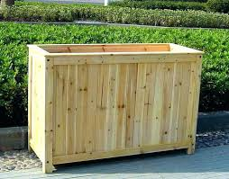 long wooden planters large planter boxes for trees