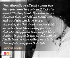Secret Love Quotes Awesome Secret Love Quotes 48 Whispers For Times When Words Fail You