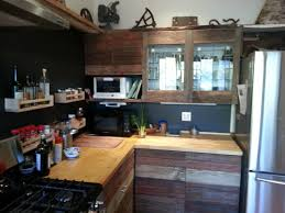Reused Kitchen Cabinets Source Reclaimed Wood Kitchen Cabinets Project Simple Kitchen