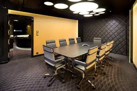 office interior design ideas. Perfect Ideas For Your Office Interior Using Cool Conference Table : Astounding Rectangular Black Wooden Design