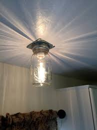 industrial mason jar flush ceiling light rustic lighting inside designs 16