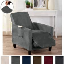 great bay home modern velvet plush strapless slipcover form fit stretch stylish furniture cover protector gale collection by brand
