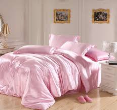 deals on comforter sets light pink bedding sets silk satin super king size queen double quilt