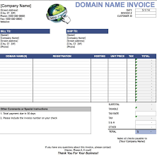 Customer Invoice Template Excel Free Domain Name Invoice Template Excel PDF Word Doc 4