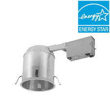 aluminum led recessed lighting housing for remodel ceiling t24 compliant insulation contact air tite h750ricat the home depot